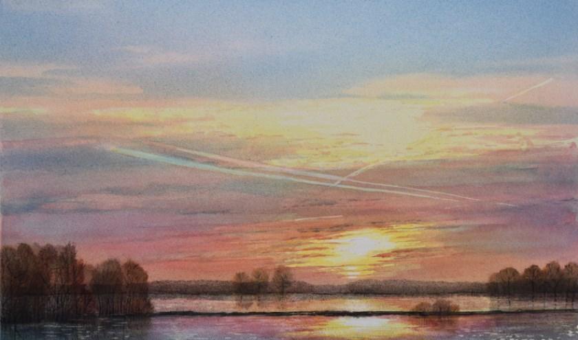 Een schilderij van Dik Kusters.
