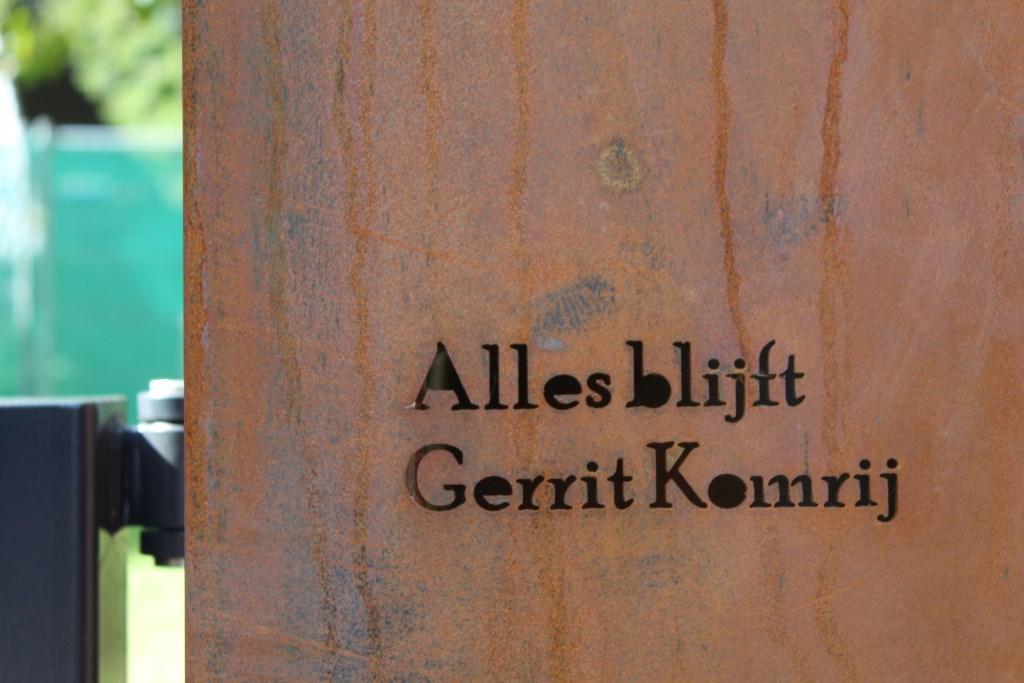 Tekst van de Nederlandse dichter Gerrit Komrij.  © rodi