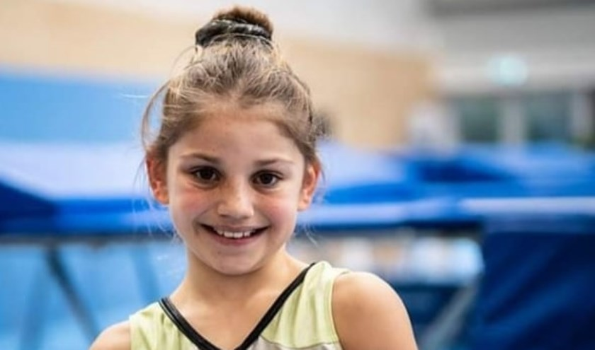 Het elfjarige trampolinetalent Thalissa.