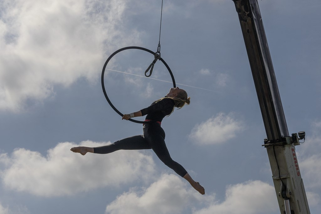 Diverse acrobatische acts zijn het bekijken waard.  (Foto: Kees van der Veer Hoofddorp) © rodi