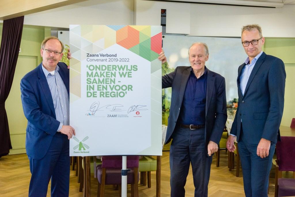 De Zaanse besturen ondertekenden een nieuw convenant Zaans Verbond in Zorgcentrum Mennistenerf in Zaandam, een van de partners in het opleiden voor medewerkers in de zorg. (Foto: Photographer: Marco van Ammers) © rodi