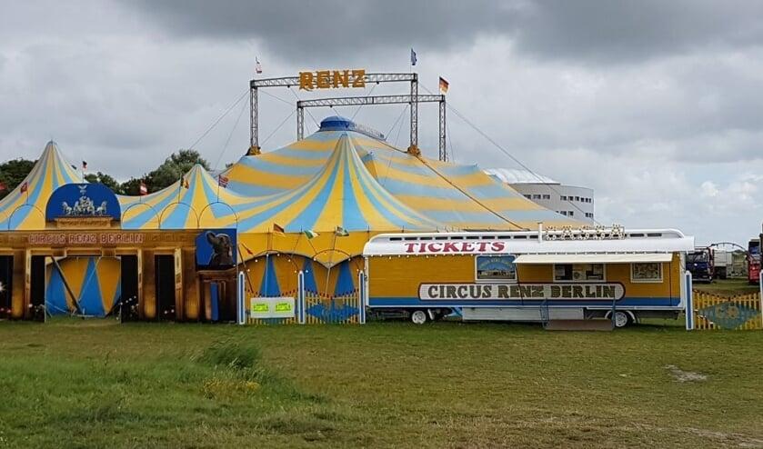 Het circus slaat de tenten op nabij het Waterlandplein in Noord.