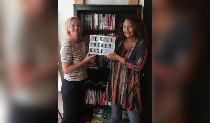 Initiatiefnemer Danielle Schouten (l) en Marieke Vesseur van Sugar Stars bakery (r)