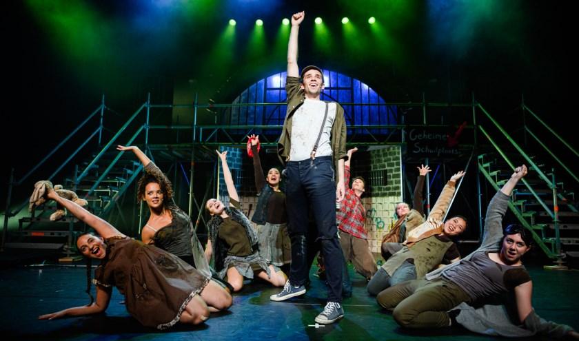 Een scène uit de musical van afgelopen seizoen 'Urinetown'.