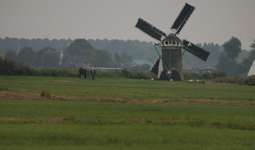Een molen op Kaageiland.