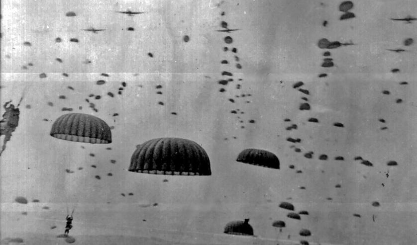 Heel veel parachutisten zijn gedropt tijdens Operatie Market Garden.