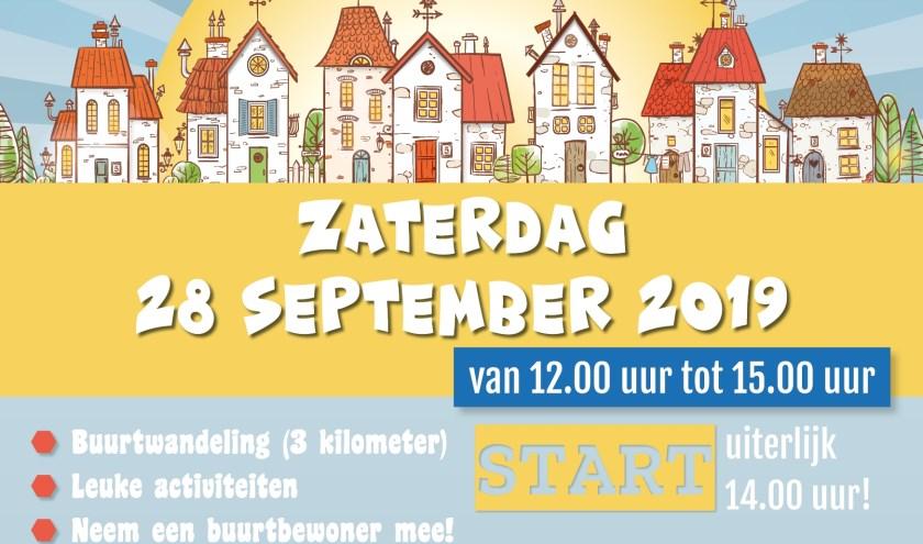 Flyer voor burendag wijk Oosterwijk