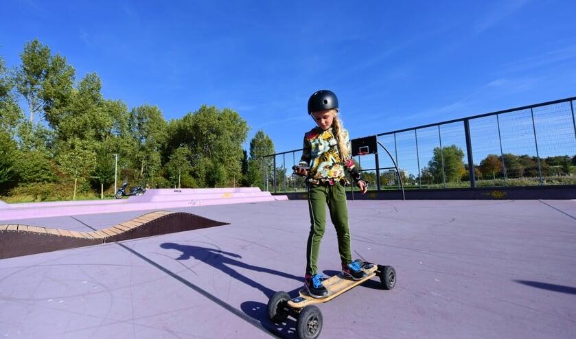 E-skaten rond de Toolenburgerplas.