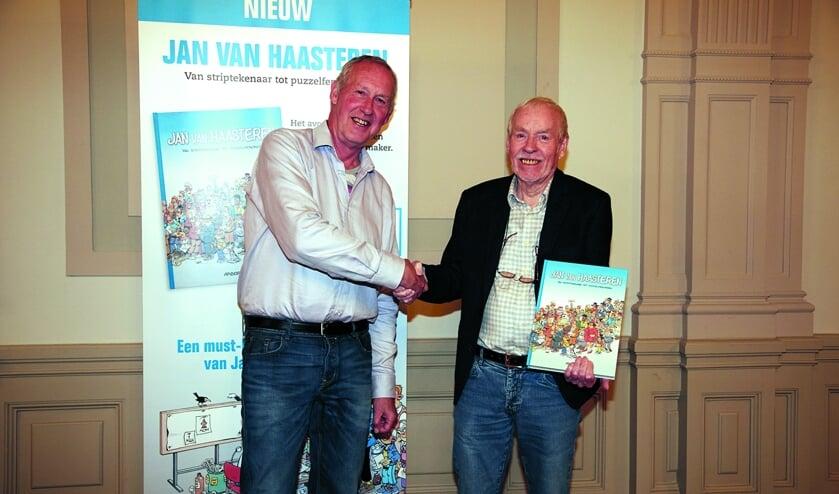 In 2017 verscheen een boekwerk over het werk van Bergenaar Van Haasteren (r).