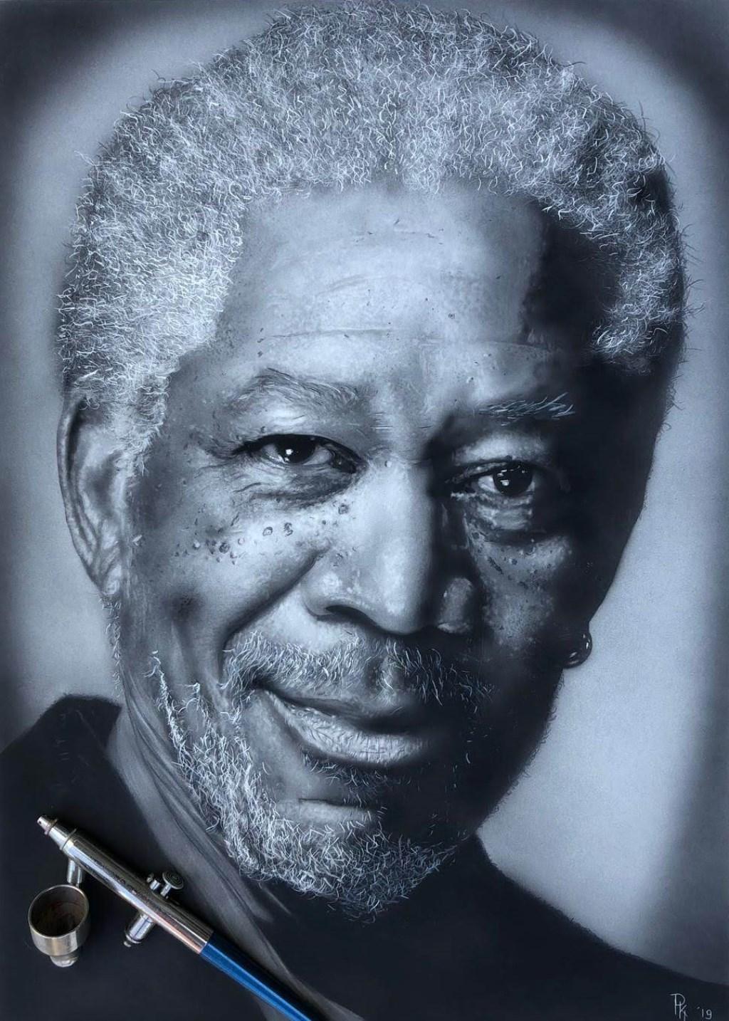 Een portret van acteur Morgan Freeman.  (Foto: Aangeleverd) © rodi