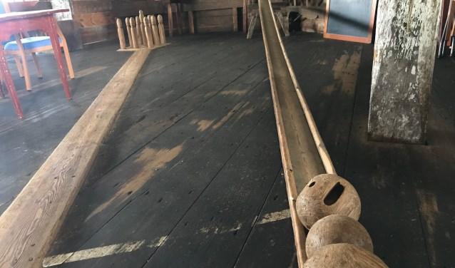 De misschien wel oudste kegelbaan ter wereld ligt in het Noorderpolderhuis