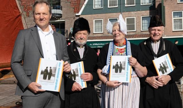 V.l.n.r. André Kes, Ger en Griet Schilder (Loege) en Jaap Mooyer