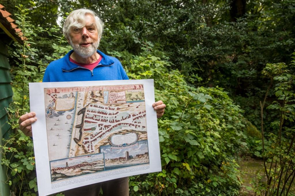 Een hele oude plattegrond van de Egmonden. (Foto: vincentdevriesfoto.nl) © rodi
