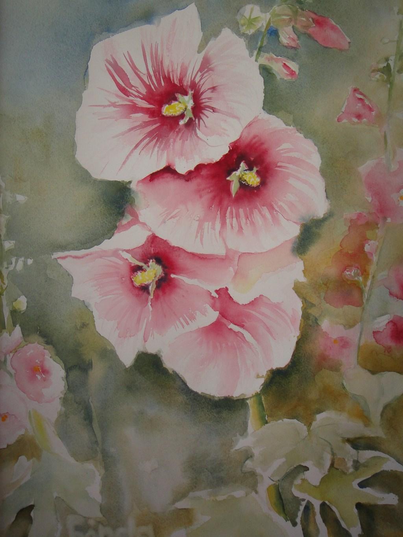 Geschilderde bloemen.  (Foto: Aangeleverd) © rodi