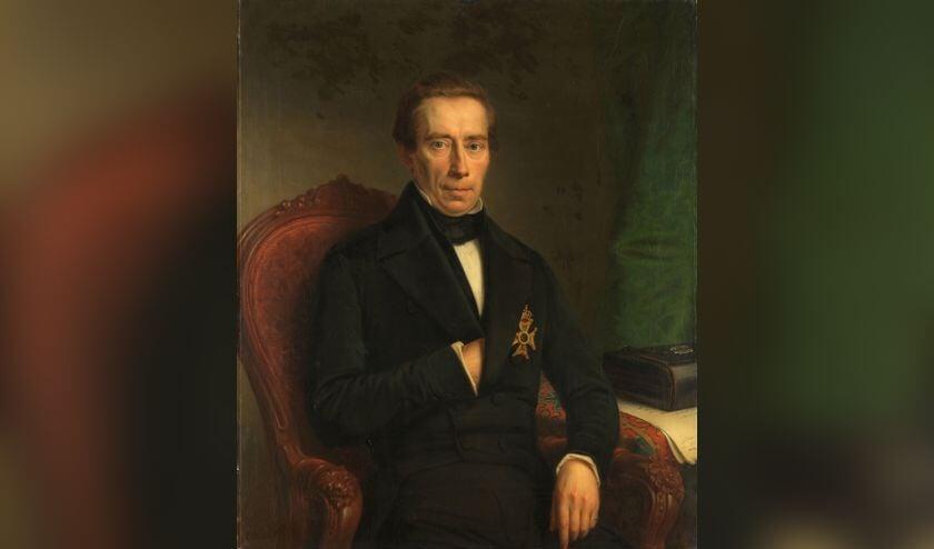 Portret van Thorbecke in 1853, door Johann Heinrich Neuman. Collectie Rijksmuseum.