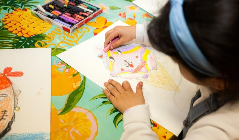 Tekenen kan bij het Cultuurhuis voor kinderen en jongeren.