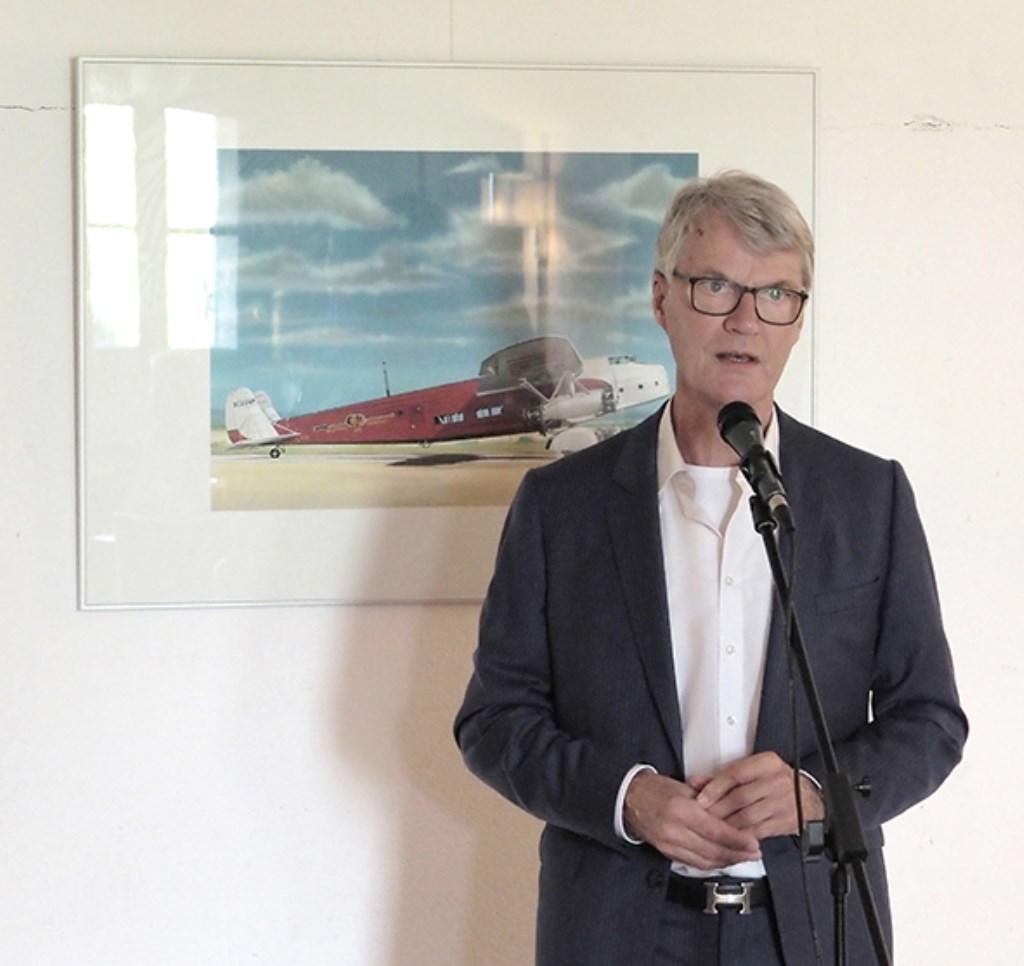 Peter de Raaf opent de tentoonstelling 100 Jaar Fokker.   © rodi