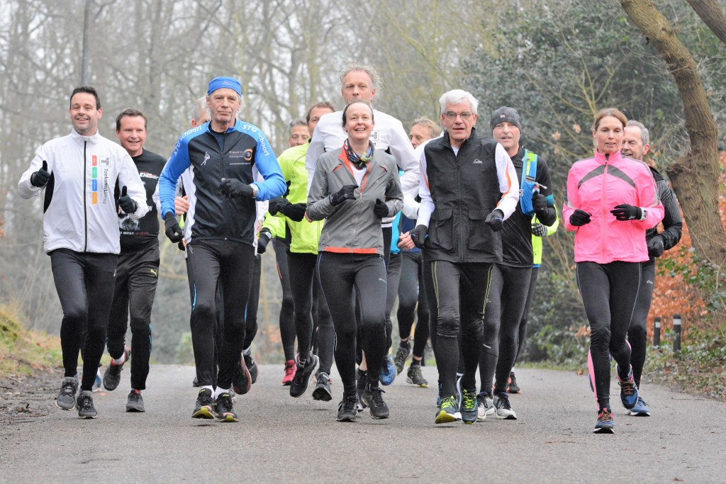 Hardlopers in training voor de halve marathon in Schoorl. Foto: Gerard Becker © rodi