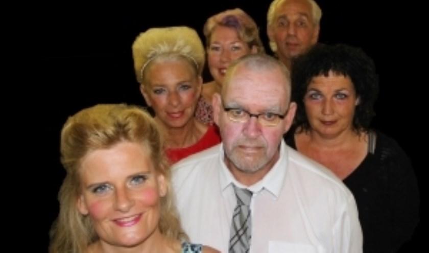 De cast van het toneelstuk.