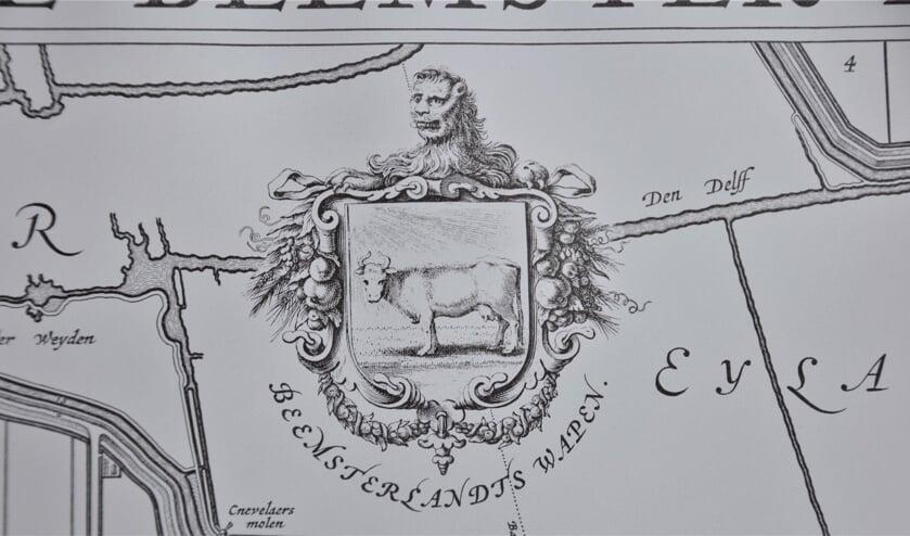Detail uit kaart Beemster.