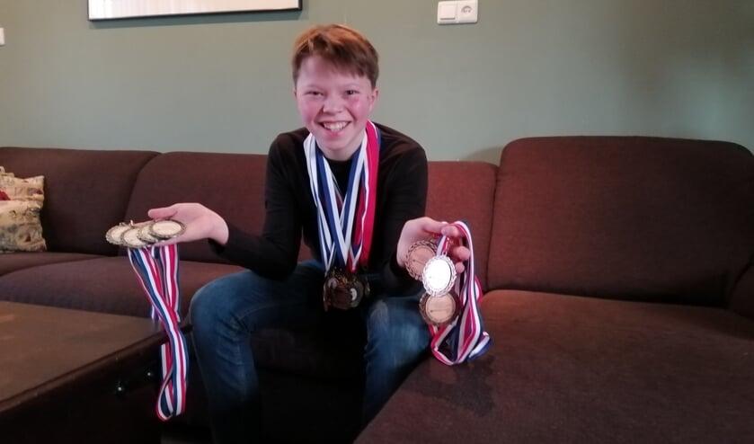 Cartouche heeft al tientallen medailles verzameld,