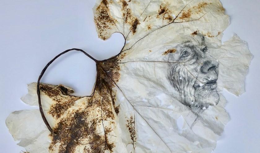 Ubaldo Sichi: zonder titel acryl op doek.