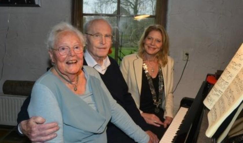 Echtpaar Jongejans-Sickler 65 jaar getrouwd.
