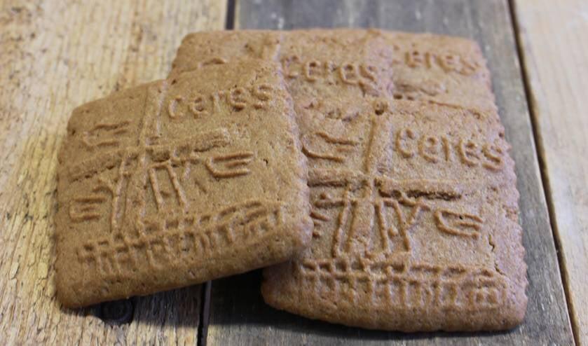 Speciale koeken met opdruk molen Ceres.