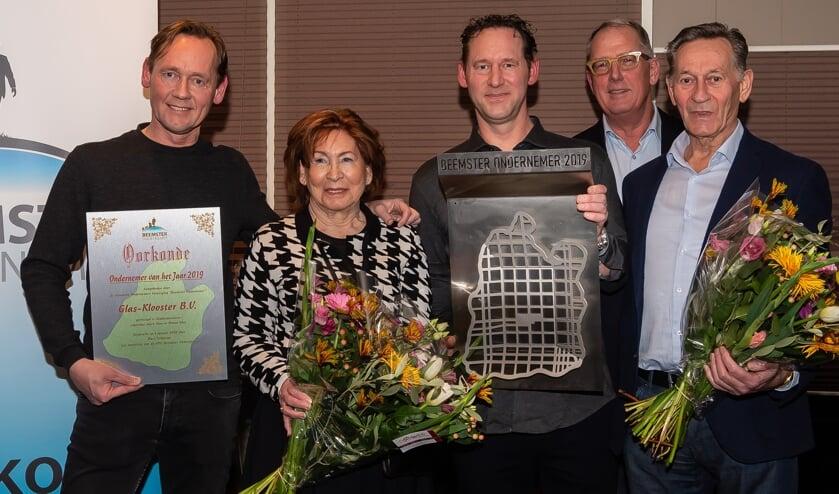 Familiebedrijf Glas-Klooster B.V. is Beemster Ondernemer 2019