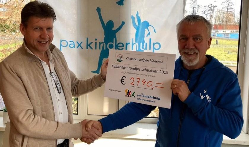 Kinderen uit Edam schaatsen €2740 bij elkaar voor Pax Kinderhulp.