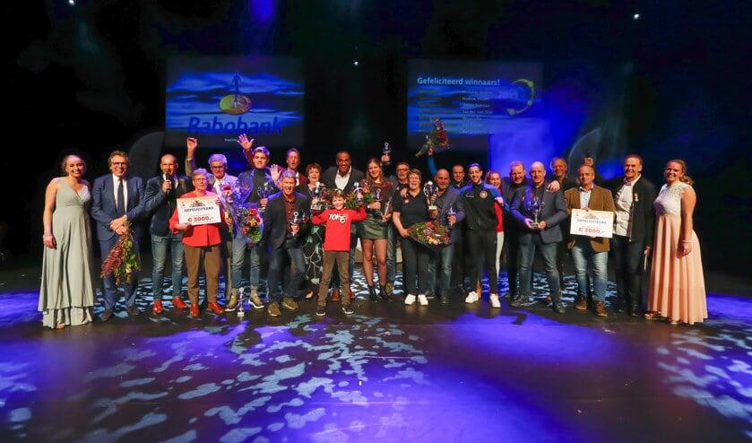 De winnaars van de Westfriese Sportverkiezingen in het Park in Hoorn.