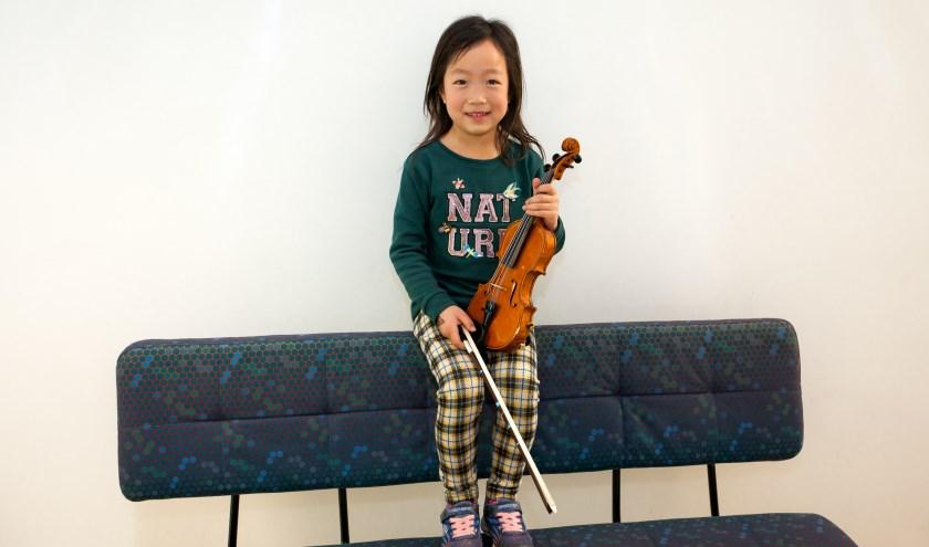 Zeker 50 leerlingen van Cultuurhuis Heemskerk hebben viool- en celloles volgens de Suzuki methode.