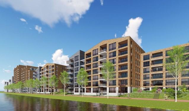 Woningbouwcorporaties willen sociale huurwoningen aan Kanaalzone, onder meer aan het Jaagpad.