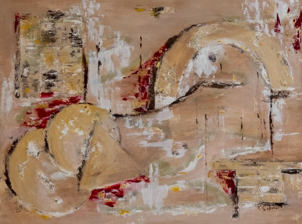 Elly schilderde abstract, maar ook stillevens en vrouwenfiguren. (Foto: Arjan Boukema photography) © rodi