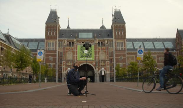 <p>Normaal is het bij het Rijksmuseum heel druk tijdens de Marathon van Amsterdam.</p>
