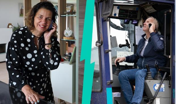 <p>Aannemer Kuin en wethouder Andrea van Langen geven vanuit huis het startsein voor Tripkouw fase 2.&nbsp;</p>