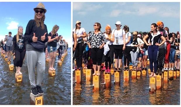 <p>Voorgaande jaren stonden deelnemers op een paaltje in het water bij Strand Horst.</p>