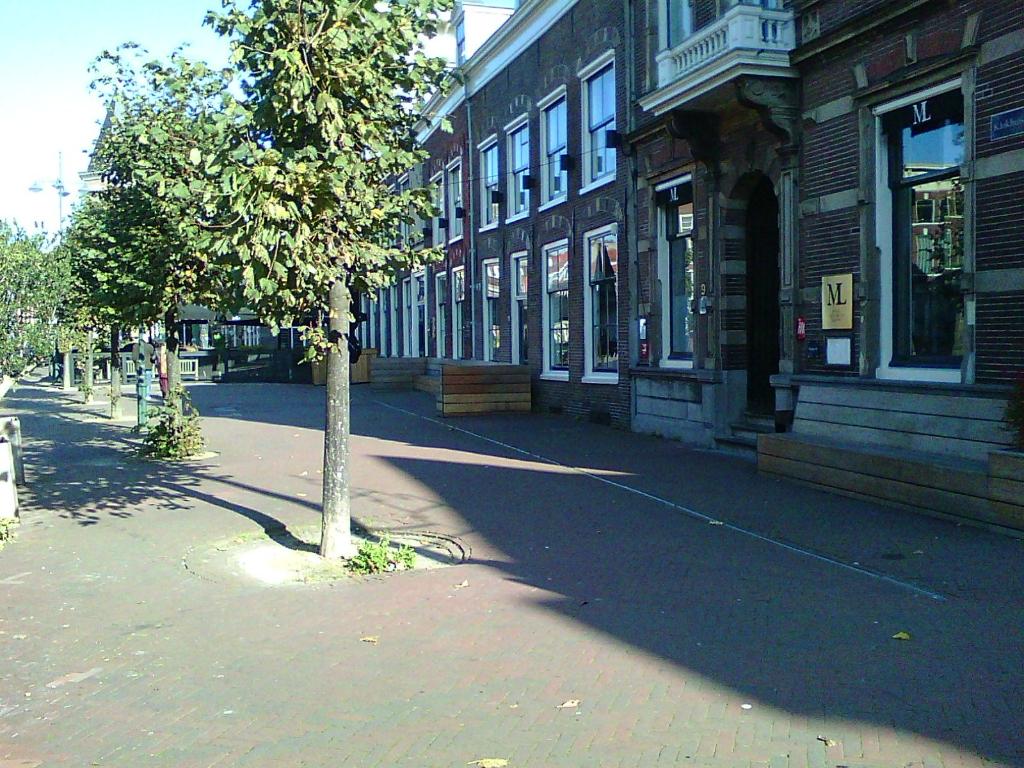 <p>Lege terrassen en lege panden sieren de stad Haarlem.</p> <p>(Foto: Ad Timmers )</p> © rodi