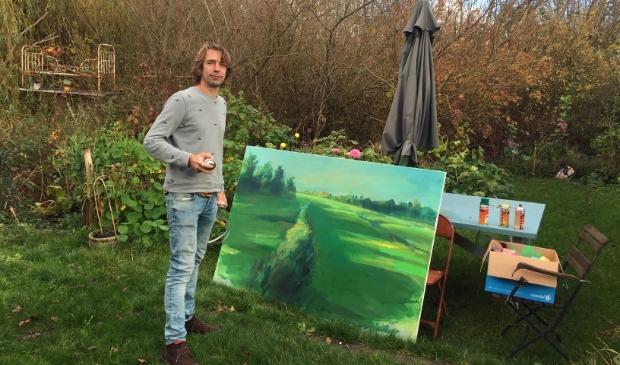 <p>Robert aan het werk in zijn tuin.</p>