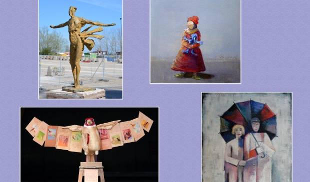 <p>Een compilatie van de kunstwerken van beide kunstenaars.</p>