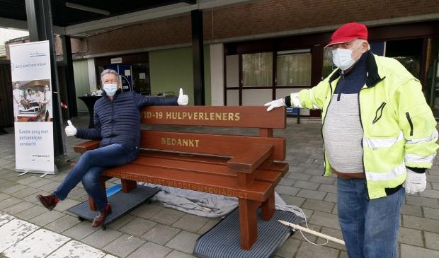 <p>Links Edwin van de Meer en rechts Henk Janissen.. </p>