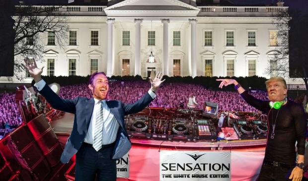 <p>Trump in actie tijdens Sensation White House</p>