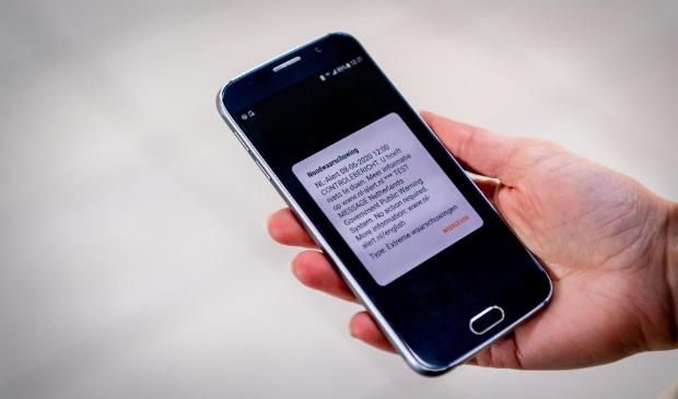 <p>Het controlebericht verschijnt op je mobiele telefoon.</p>
