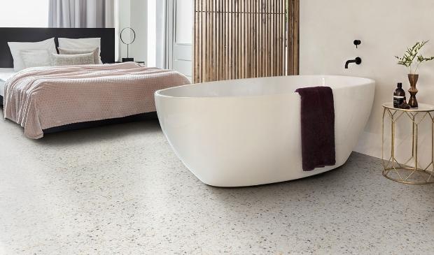 <p>Italiaanse look met Terrazzo vloer.</p>