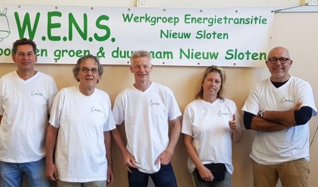 "<p pstyle=""PLAT"">De leden van W.E.N.S. vlnr: Nico Beumer, Frans Peters, Rene Goossens, Alina Sijthoff en Hans Roeland Poolman.&nbsp;</p>"