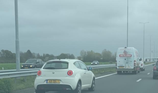 <p>Bumperkleven en van de weg afdrukken op de A9 bij Uitgeest.</p>