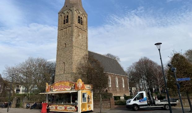 <p>Gebakkraam Kerkplein Heemskerk.</p>