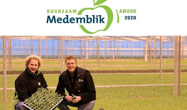 <p>Wiliam Gitzels van Plantenkwekerij Gitzels ontvangt de Duurzaam Ondernemen Award.</p>
