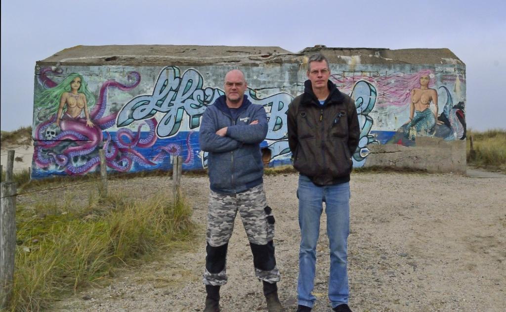 <p>Andre de Vries (l) en Jack van de Ree.&nbsp;</p>