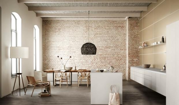 Nieuwe kijk op keuken en ruimte.